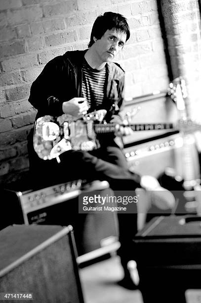 Portrait of English musician Johnny Marr best known as a founding member of alternative rock group The Smiths taken on July 10 2009 Marr is also a...