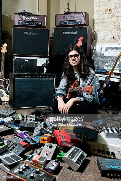 Portrait of English musician Joshua Hayward guitarist with indie rock group The Horrors photographed in London on June 17 2014