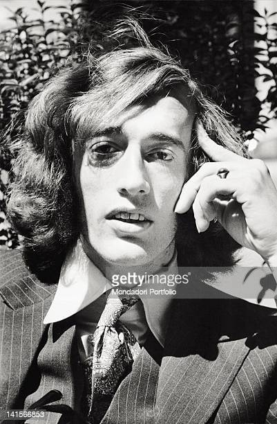 Portrait of English musician Robin Gibb He's the singer of the Bee Gees band Milan 1970s