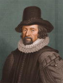 Portrait of English philosopher essayist and statesman Sir Francis Bacon whose promotion of scientific inquiry contributed to the development of the...