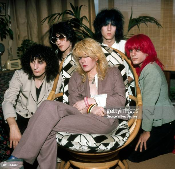 Portrait of English pop group Japan London England 1979 Pictured are left Rob Dean Steve Jansen David Sylvian Richard Barbieri and Mick Karn