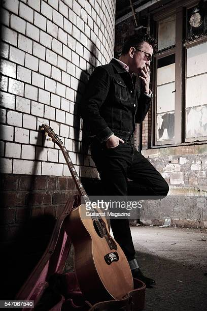 Portrait of English rock musician Richard Hawley photographed before a live performance at the Colston Hall in Bristol on November 9 2015