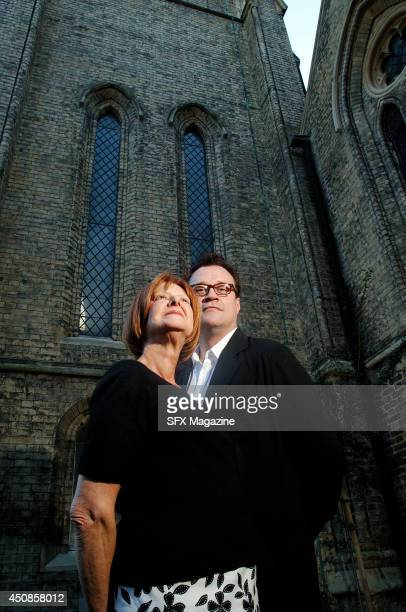Portrait of English television producer Verity Lambert and Welsh screenwriter Russell T Davies photographed in London on September 1 2006 Lambert was...