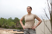Portrait of Enlisted Female Airforce Soldier
