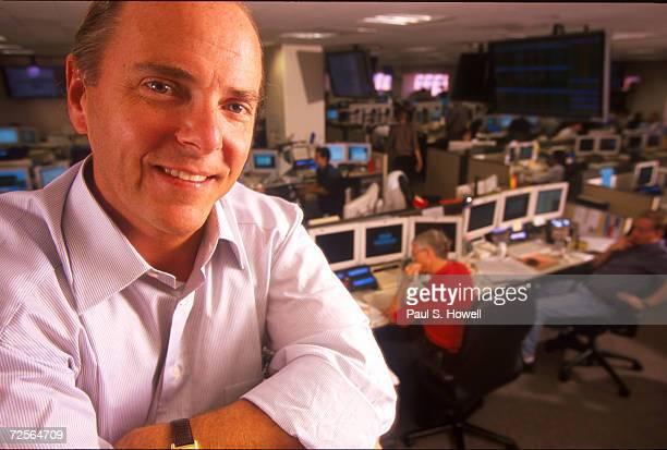 Portrait of Enron president Jeffrey Skilling posing on the trading floor August 17 2000 in Houston Texas
