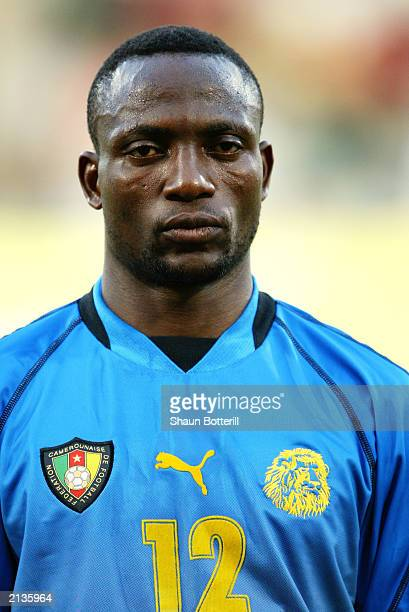 A portrait of Eric Kwekeu of Cameroon during the Confederations Cup Group B match between USA and Cameroon on June 23 2003 at the Stade Gerland in...