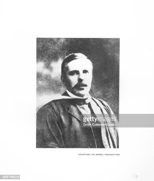 Portrait of Ernest Rutherford winner of the Nobel Prize in chemistry and known as the father of nuclear physics 1900 Image courtesy US Department of...