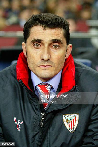 A portrait of Ernesto Valverde coach of Athletic Bilbao prior to the Primera Liga match between FC Barcelona and Athletic Club de Bilbao on March 12...