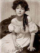 Portrait of Evelyn Nesbit circa 1900 Platinum print