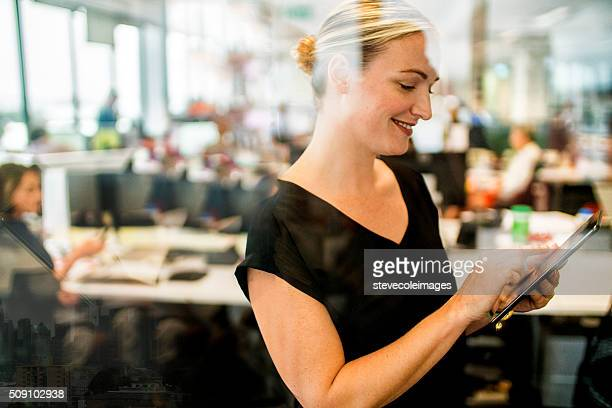 Portrait of executive businesswoman.