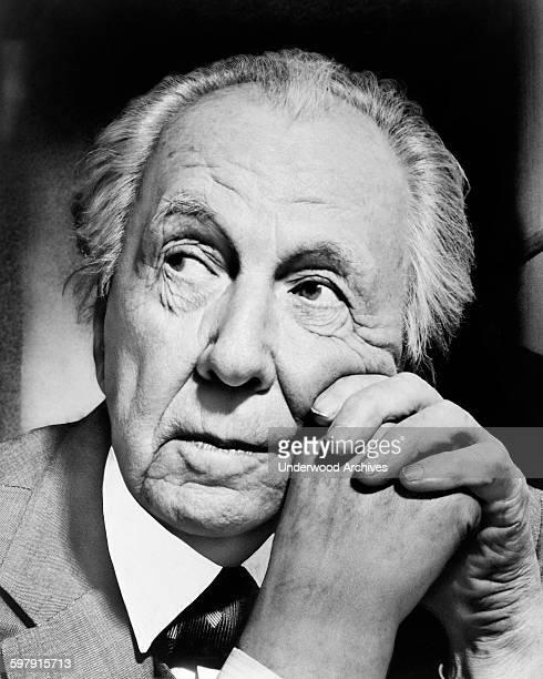 A portrait of famed architect Frank Lloyd Wright New York New York 1954