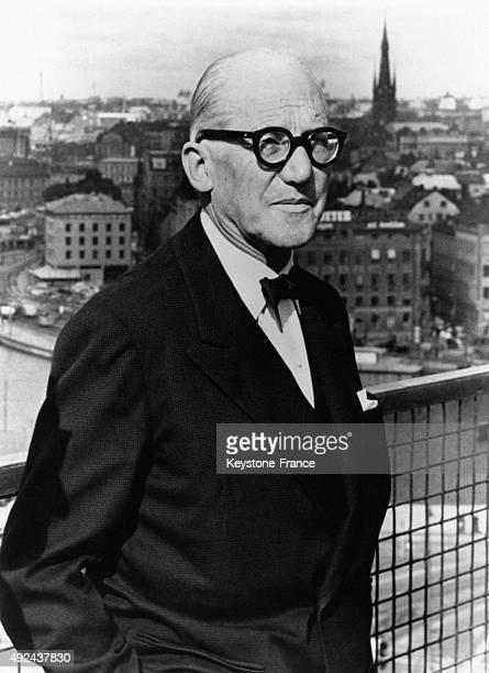 Portrait of famous architect Le Corbusier in 1962