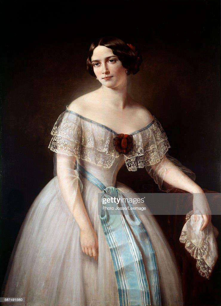 Portrait of Fanny Cerrito dancer Anonymous painting 19th century Opera Museum Library Paris