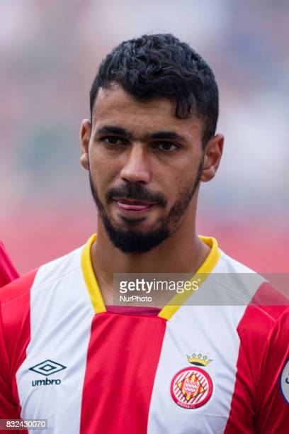 Portrait of Farid Boulaya from Argelia of Girona FC during the Costa Brava Trophy match between Girona FC and Manchester City at Estadi de Montilivi...