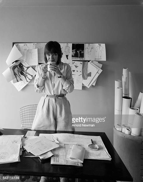 Portrait of fashion designer and director Mary Quant in Chelsea London England June 7 1978