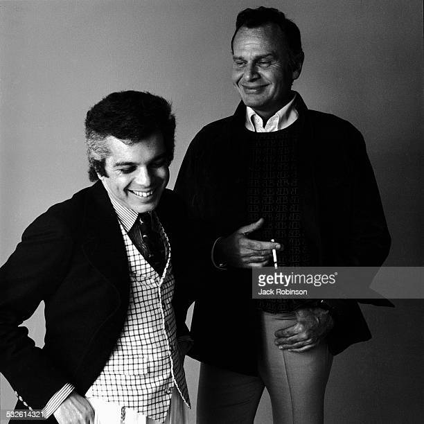 Portrait of fashion designers Ralph Lauren and Bill Blass late 1960s or early 1970s
