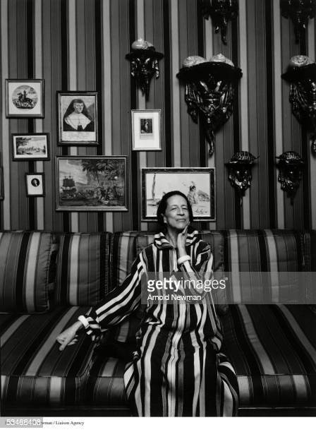 Portrait of fashion editor Diana Vreeland August 25 1974 in New York City