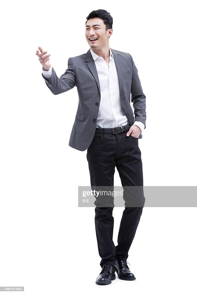 Portrait of fashionable businessman