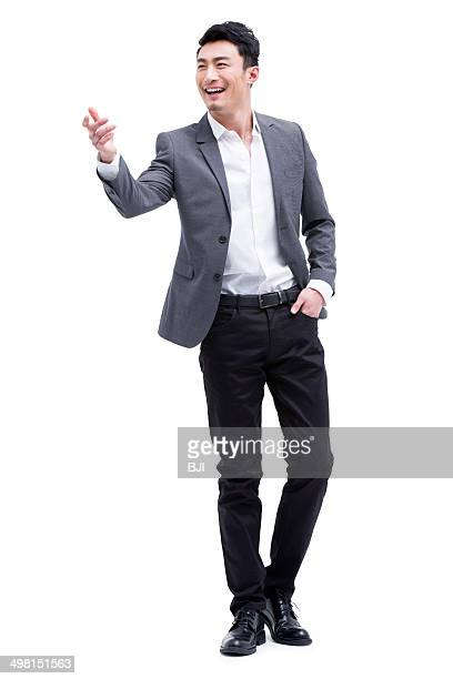 Portrait of fashionable businessman