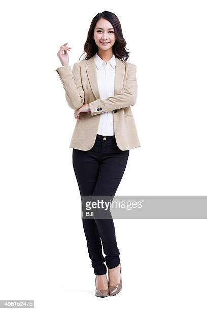 Portrait of fashionable businesswoman