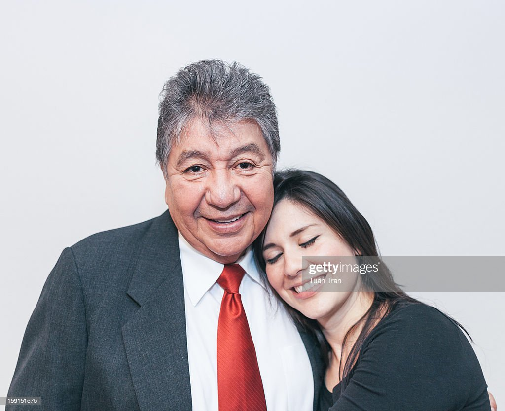 Portrait of father and daugher : Stock Photo