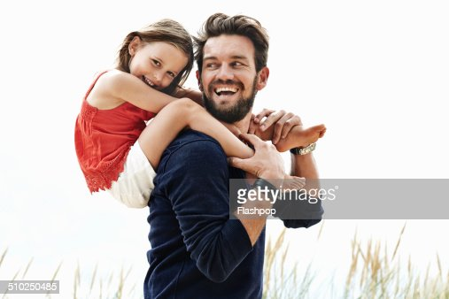 Portrait of father and daughter