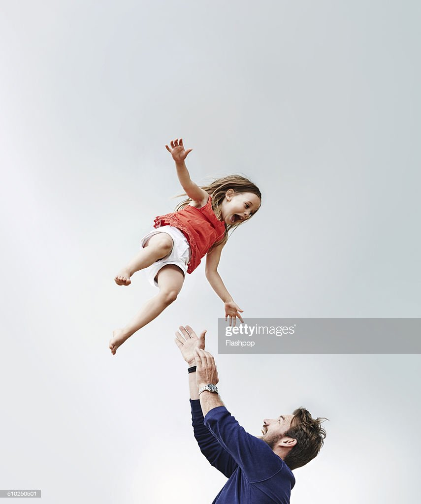 Portrait of father and daughter : Stock Photo