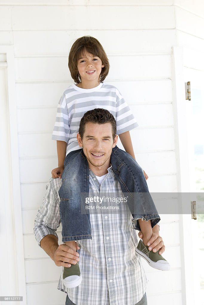 Portrait of father and son : Stock Photo