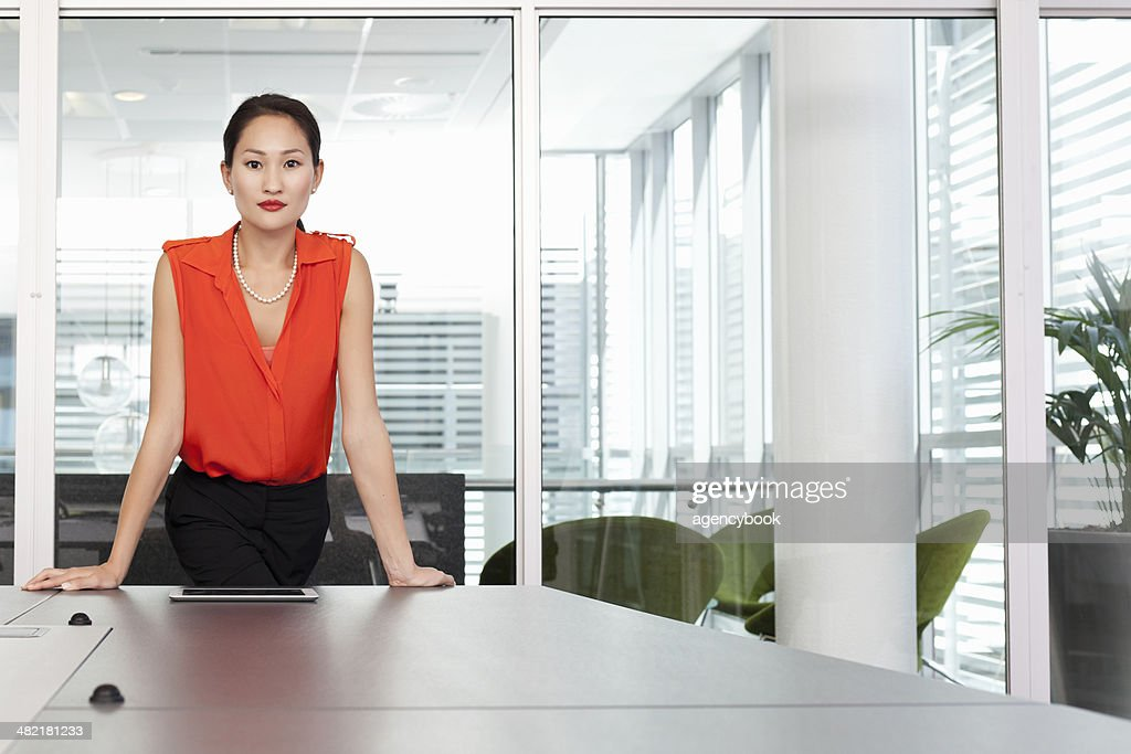 Portrait of female business manager in office