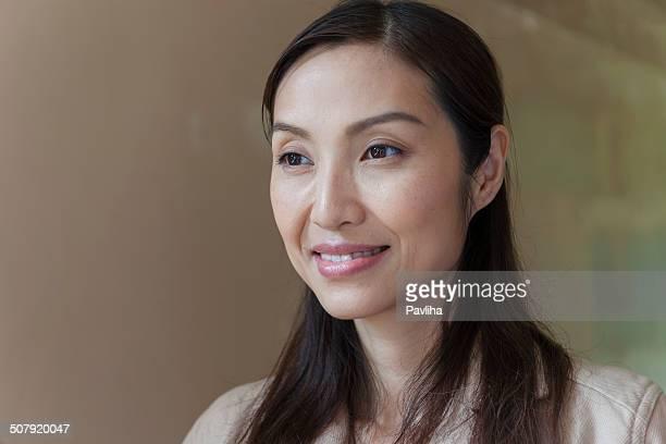 Retrato de mulher de professor chinês, Hong Kong, China, Ásia