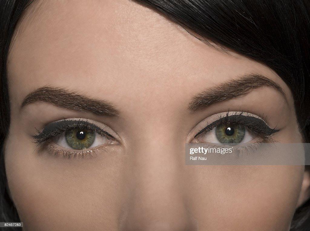 Portrait of female eyes : Stock Photo