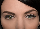 Beauty portrait of females eyes with eyeliner