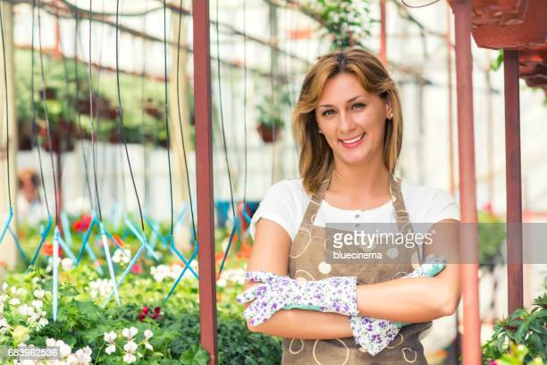 Portrait Of Female Florist