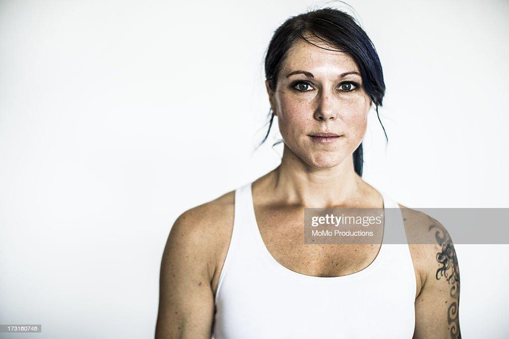 portrait of female gym : Stock Photo