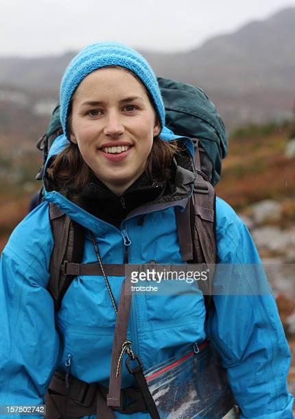 Porträt von weiblichen Wanderer
