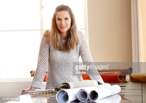 Portrait Of Female Interior Designer Stock Photo Getty