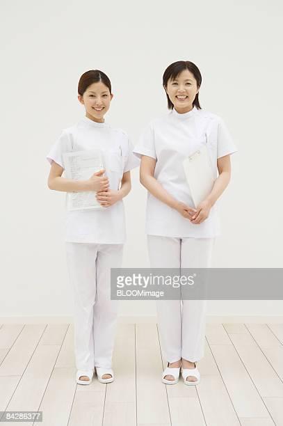 Portrait of female nurses, smiling