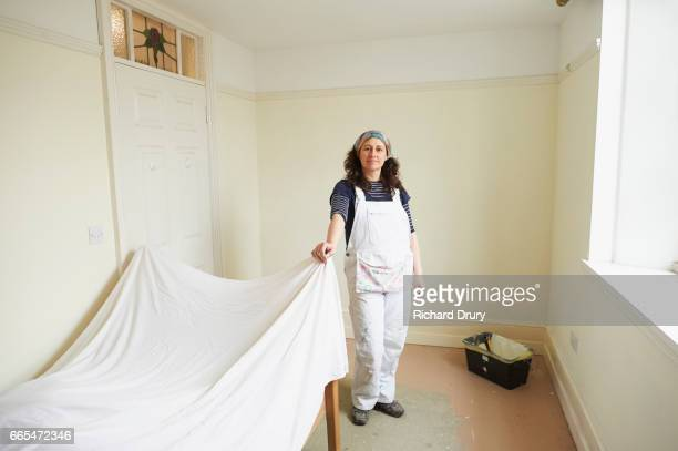 Portrait of female painter and decorator