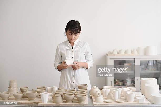 Portrait of female potters