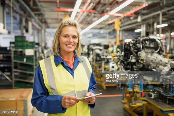 Portrait of Female Production Line Worker