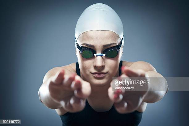 Portrait of female professional swimmer