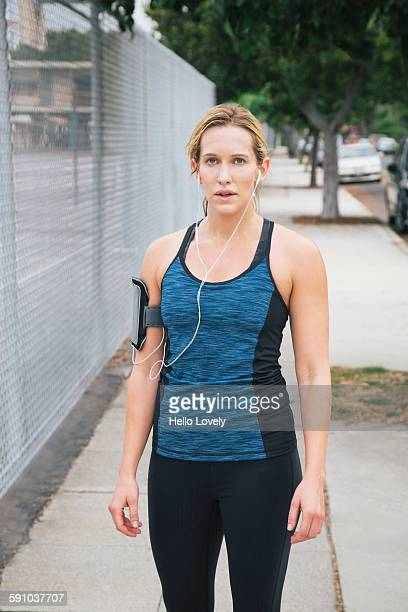Portrait of female runner
