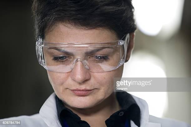 Portrait of female scientist