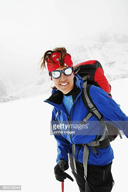 Portrait of female skier