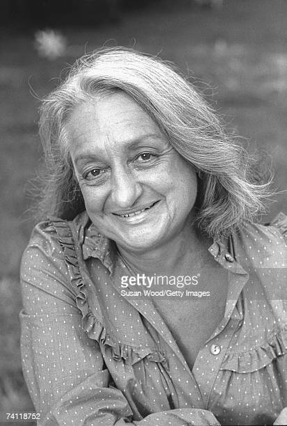 Portrait of feminist author and social activist Betty Friedan late 1970s or early 1980s