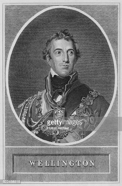 Portrait of Field Marshal Arthur Wellesley 1st Duke of Wellington KG GCB GCH PC FRS who was a British soldier and statesman a native of Ireland and...