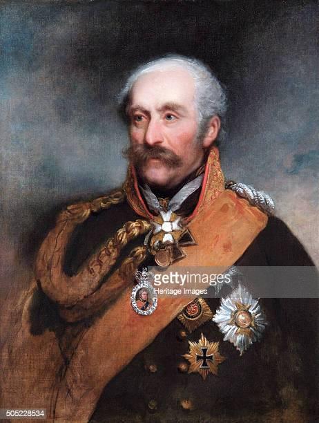Portrait of Field Marshal Blücher Prussian soldier c1818 Gebhard Leberecht von Blücher Prince von Wahlstaff was the hero of the Battle of Leipzig in...