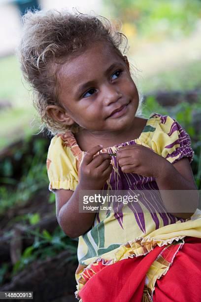 Portrait of Fijian girl.