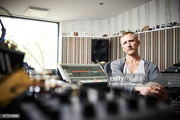 Portrait of Finnish electronica musician Sasu Ripatti better known by his recording name Vladislav Delay photographed at Shark Reef Studios in...
