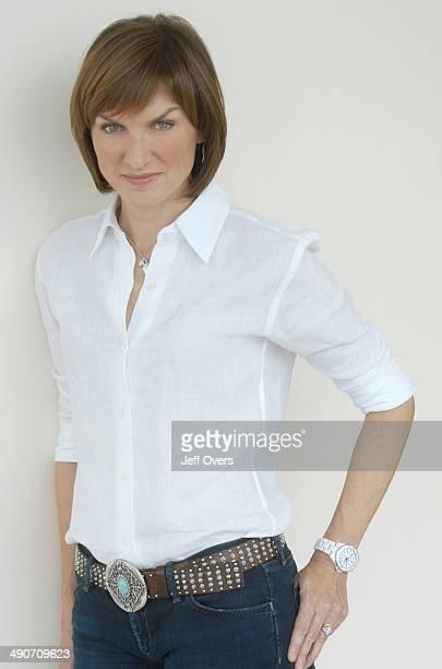 Portrait of Fiona Bruce BBC newsreader and presenter